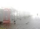 Centro de Londrina com neblina