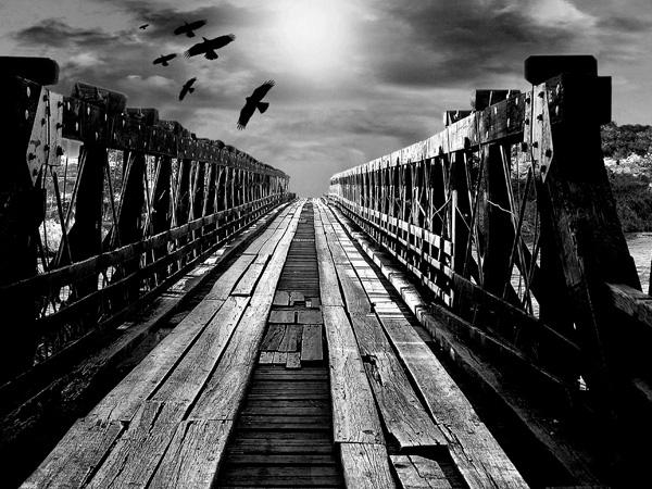 Ponte em ruínas  por Rui Porto
